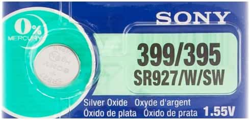 Sony 399/395 (SR927/W/SW) 1.55V Silver Oxide 0%Hg Mercury Free Watch Battery (1 Battery)