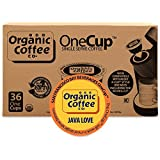 Organic Coffee Co. OneCup, Java Love, 36 Count- Single Serve Coffee, Compatible with Keurig K-cup Brewers, USDA Organic
