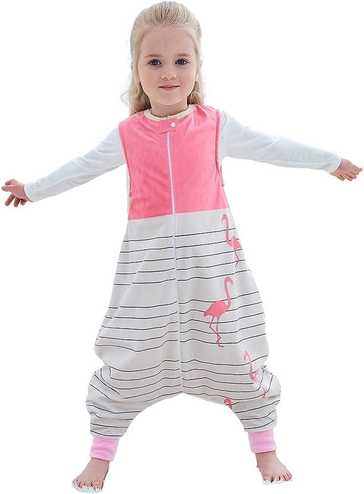 IDGIRL Baby Sleep Bag with Feet,Fleece Wearable Blanket Sleeveless for Girls Boys 1-6 Years