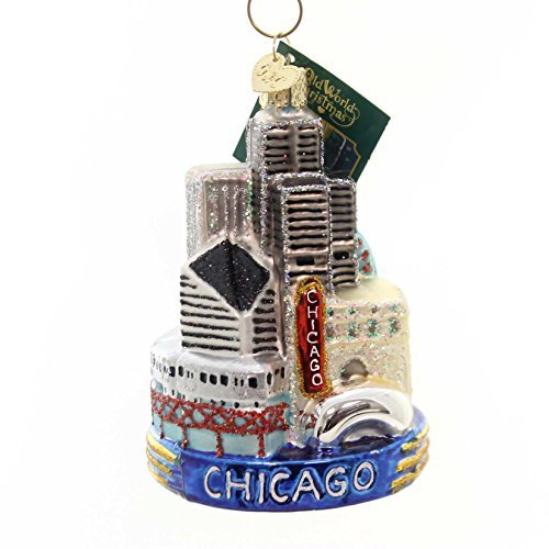 Old World Christmas Chicago Glass Blown Ornament
