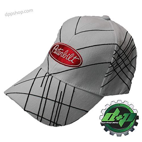 - Diesel Power Plus Peterbilt Fitted Baseball hat Cap White Black Stripes Small/med