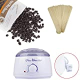 coffee bean heater - Wax Warmer Hair Removal Kit , Leoy88 Electric Wax Warmer Heater with Hard Removal Wax Beans and Wax Wiping Sticks for Face Arm Armpits Legs Bikini (Coffe)