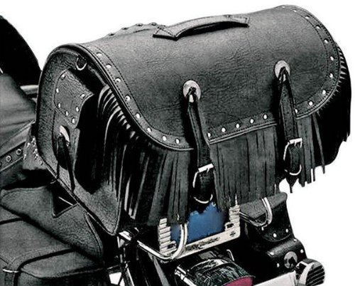 All American Rider Large Travelers Bike Rack Bag with Rivets and Fringe 3001RCF ()