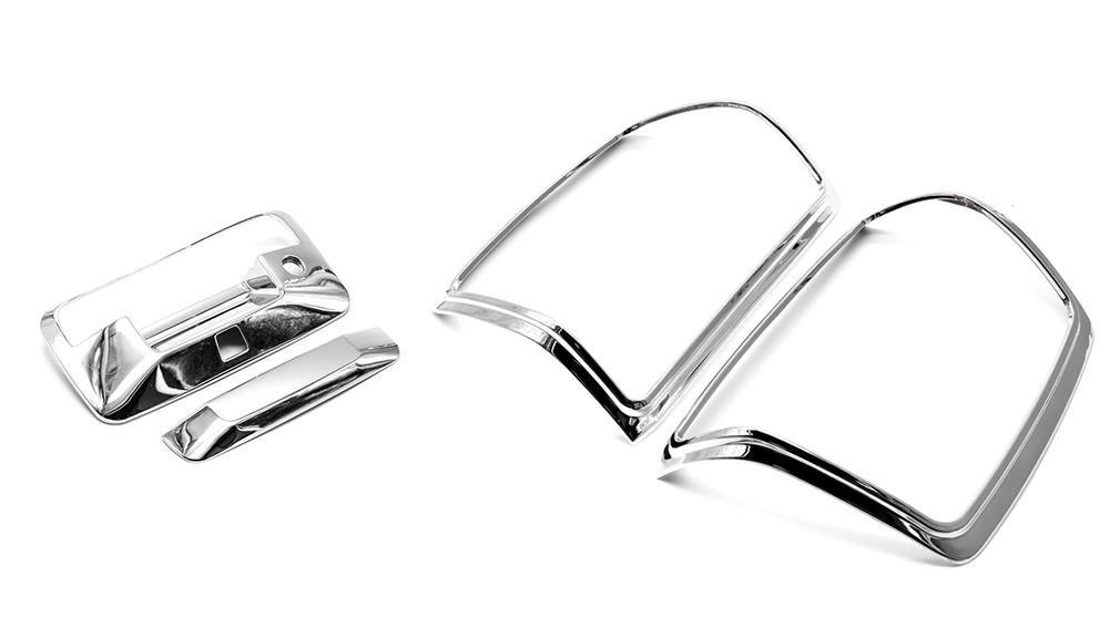 Sizver Chrome Tailgate+Taillight Cover For Chevy Silverado 1500
