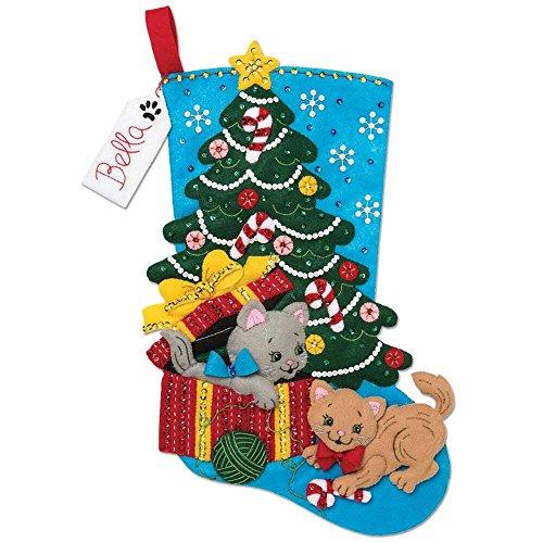 Christmas Stocking Homemade - Bucilla 18-inch Christmas Stocking Felt Applique Kit, 86899E Pawfect Gift