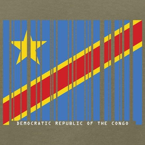 Democratic Republic of the Congo / Demokratische Republik Kongo Barcode Flagge - Herren T-Shirt - Khaki - M
