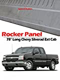 rocker panels gmc sonoma - 1999-2007 Chevy Silverado and GMC Sierra Universal Fit 4 Door Extended Cab Outer Rocker Panels (2 Pcs)