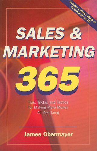 Years of sales and marketing wisdom will be at your fingertips with this book. Readers will learn to be more productive and more effective, which will help them make more money. This treasure chest of 365 tips, one for every day of the year, is or...