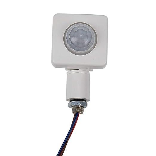 SODIAL Alta Calidad Automática Pir 85-265V Sensor De Movimiento Infrarrojo Pir De Seguridad Detector De Pared Luz Led Al Aire Libre 160 Grados 10M ...