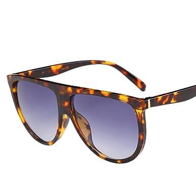 Lunettes de soleil,LHWY Nouveau carré Vintage en miroir lunettes de soleil lunettes lunettes de Sports de plein air (Or, G)