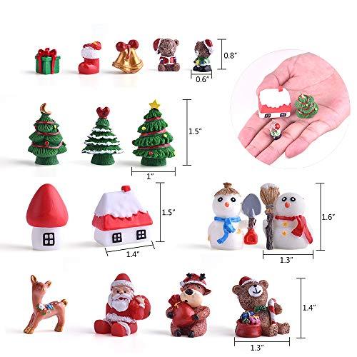Size 3 Zealor Christmas Fairy House Miniature Ornaments Kit DIY Fairy Garden Dollhouse Decoration