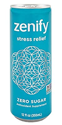 Zenify Zero Sugar All Natural Sparkling Calming Stress Relief Beverage ,12 Fl Ounce (Pack of 12)