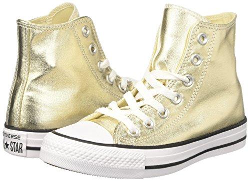 white Converse Femme Gold Hautes light 153178c Baskets black Or Fwf0zFq