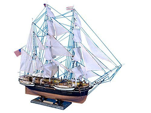 Morgan Model Ship (Charles W. Morgan Limited 32 - Wooden Model Ship - Model Whaling Ship - Handcrafted Model Ship - Sold Fully Assembled - Not a Model Ship Kit by Handcrafted Model)