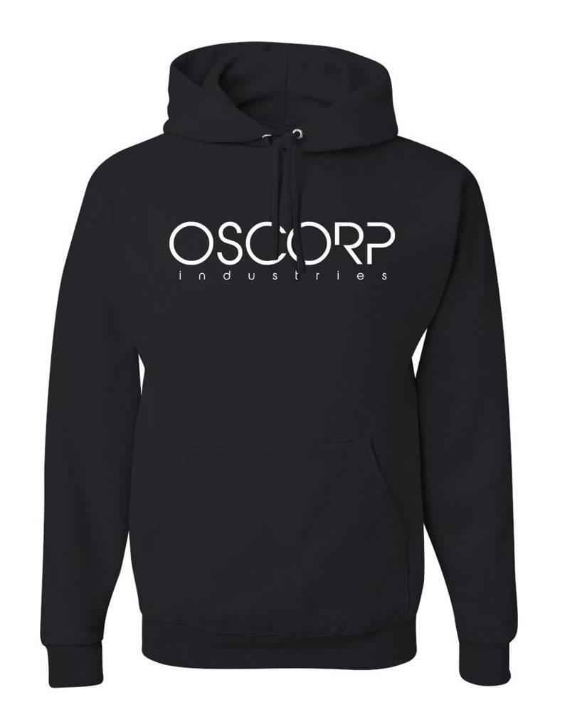 Cheapasstees Oscorp Industries -Spiderman Movie Graphic - Hoody - Black - Medium