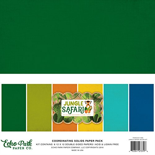 Company Jungle (Echo Park Paper Company Solid Jungle Safari Paper Pack)