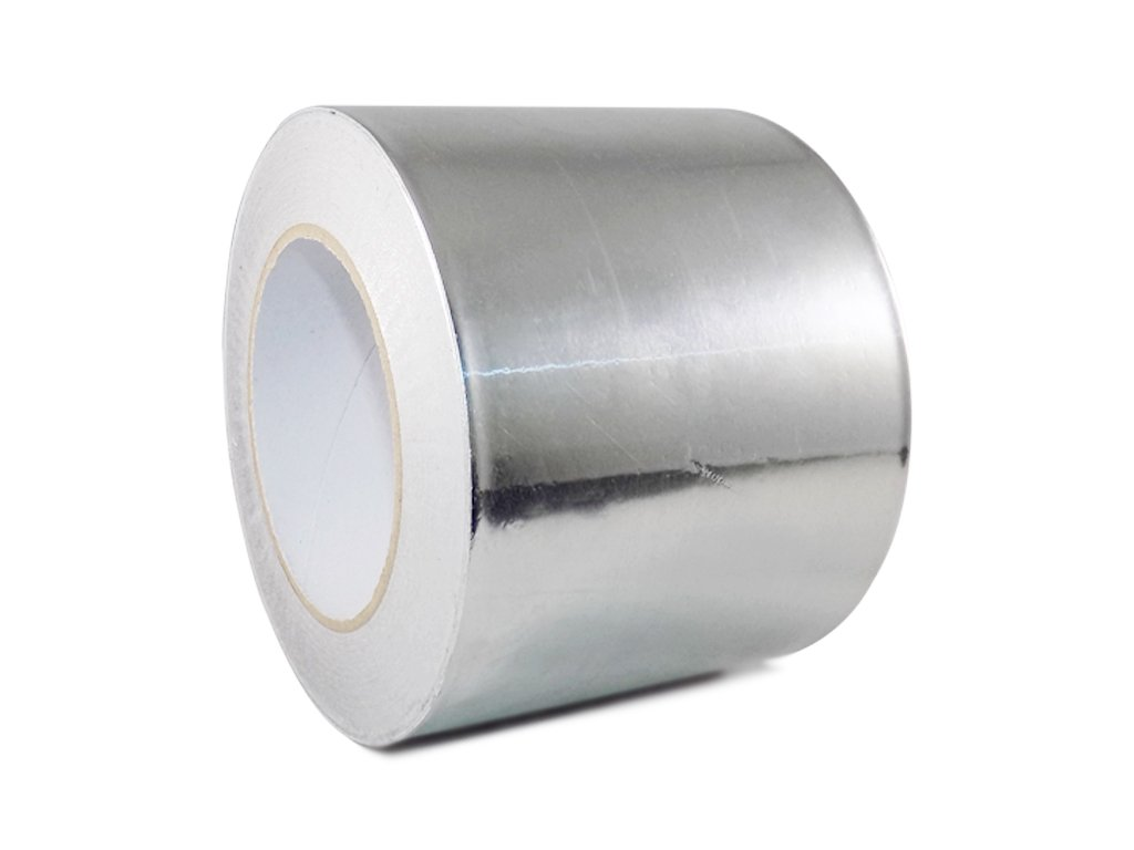 T.R.U. AF-20R Heat Shield Resistant Aluminum Foil Tape: 4 in. wide x 50 yds. (2Mil)