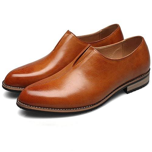 Zapatos de Hombre con Borla de otoño Británicos Puntiagudos Mocasines de Cuero Casuales Zapatos de Vestir de Boda: Amazon.es: Zapatos y complementos