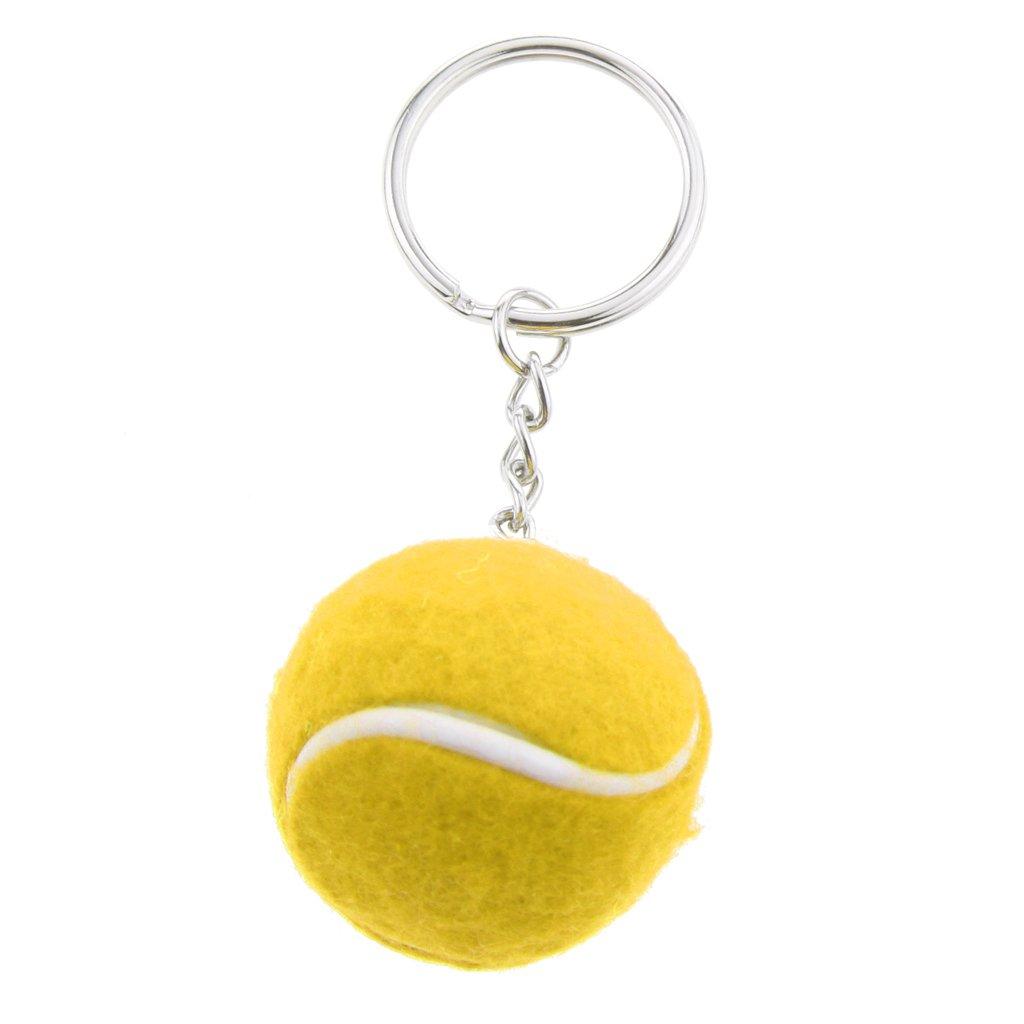Stilvolle Tennisball Anhänger Legierung Schlüsselring - Grün Generic