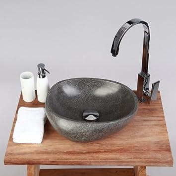 waschbecken stein naturstein 30 cm rund aufsatzwaschbecken fa 1 4 r gaste wc bad einzeln fotografiert auswahl steinwaschbecken spule kuche