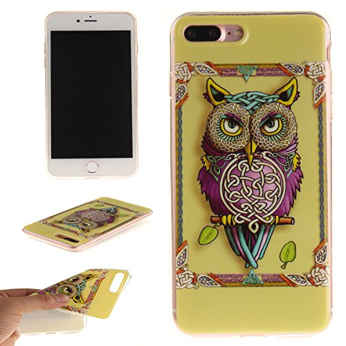 Custodia iPhone 7 Plus / iPhone 8 Plus , LH Gufo TPU Silicone Cristallo Morbido Case Cover Custodie per Apple iPhone 7 Plus / iPhone 8 Plus 5.5