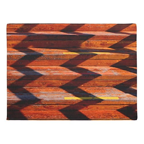 Zhiqing Blessed Family Wood Back Coral Fleece Doormats 20