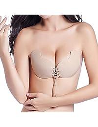 Adhesive Bra for Women Strapless Bra Invisible Sticky Bra Push up Silicone Bra
