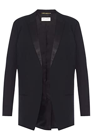 7ac64c0c7218f Saint Laurent Women's 515222Y239w1000 Black Wool Blazer at Amazon ...