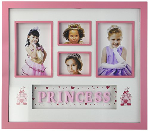 Kole Imports OL540 Prince & Princess Sectioned Box Photo Frame, Comes in assorted styles: Blue Prince and Pink Princess.