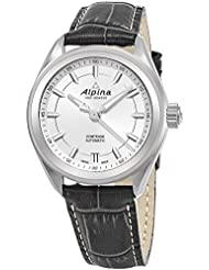 Alpina Comtesse Sport Automatic Womens Grey Leather Strap Swiss Watch - 34mm Silver Face Automatic Watch AL-525SF2C6