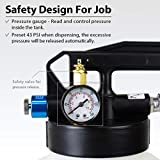 FIRSTINFO 10 Liter TWO WAY Air/Pneumatic ATF Refill System Dispenser Oil and Liquid Extractor Automatic Transmission Fluid Pump Set with 14-Piece ATF Filler Adapters