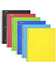 "Five Star Spiral Notebooks, 1 Subject, Graph Ruled Paper, 100 Sheets, 11"" x 8-1/2"", Assorted Colors, 6 Pack (73549)"