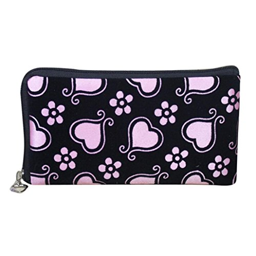 Womail Women Long Zipper Heart Wallet Card Coin Change Holder Handbags (Pink) by Womail (Image #1)
