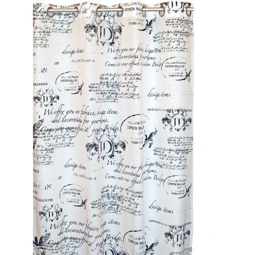 Gardinen Vorhang Ösen Ösenschal JD Schrift Muster 140x245cm