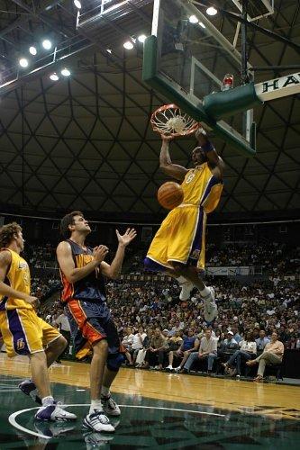 Home Comforts Laminated Poster Kobe Bryant Los Angeles Lakers Slam Dunk Poster NBA Basketball Sports Posters S Poster Print 24 x 36