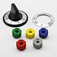 Universal Infinite Range Knob Kit KN005 With Labels and Multiple Fittings