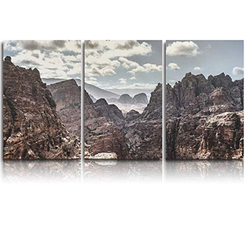 JEANCZ Canvas Wall Art for Home Decor Natural Rock Wall Stones in The Grand Canyon, USA Modern Decoration Print on Canvas Ready to Hang 24x32Inch - Stone Grand Canyon
