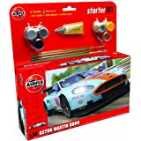 Hornby Airfix A50110 Aston Martin DBR9 Gulf 1:32 Scale Endurance Car Category 3 Gift Set (Including Paint Glue And Brushes)