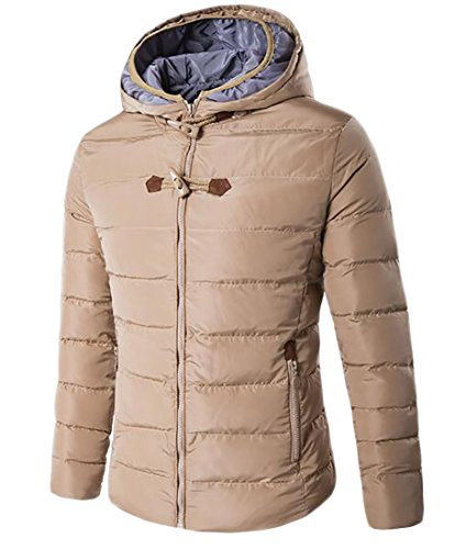 Padded Winter UK Coat Down today Warm Outdoor Hoodies Mens Jacket Khaki Double Z6qAwpWq