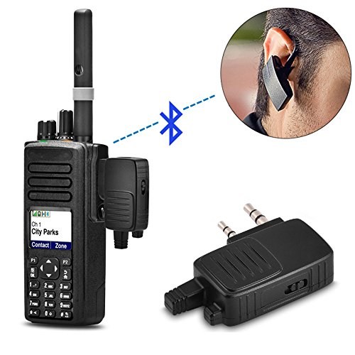 Bluetooth Adapter for Walkie Talkie, 2 Pin K Plug Two-way Radio Baofeng Low power consumption Adapter Dongle for BF-666s BF-888s BF-480 Bluetooth