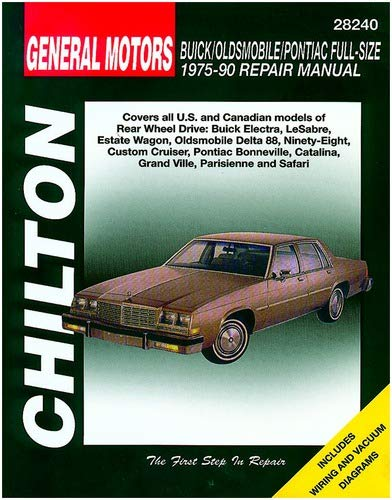 Chilton GM Buick/Oldsmobile/Pontiac Full-Size 1975-1990 Repair Manual on