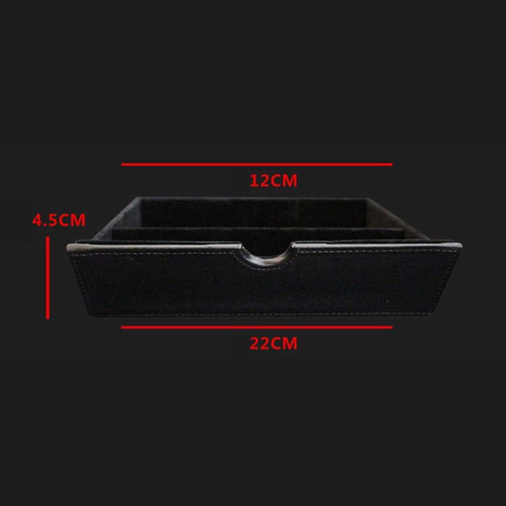 Fibra di Carbonio Senza Anello di Trazione Organizer Tray Misura per Tesla Model X S KKmoon Scatola Portaoggetti della Console Centrale per Auto