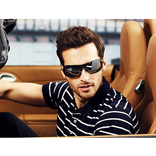 4aa8353d79 HONEY Hombres Gafas De Sol Polarizadas De La Vendimia Personalidad Cómodo  Manejar Gafas De Conducción Profesionales Lente A Prueba De Explosiones De  ...