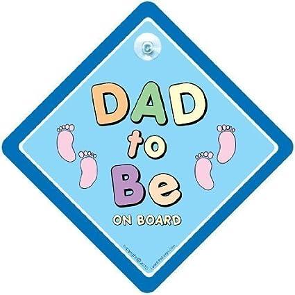 Dad Próxima a bordo señal , DAD Próxima Señal Coche , azul ...