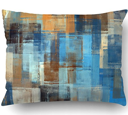 (Emvency Pillow Covers Decorative Abstract Painting Colored Grunge Bulk With Zippered 20x26 Standard Pillow Case For Home Bed Couch Sofa Car One Sided)