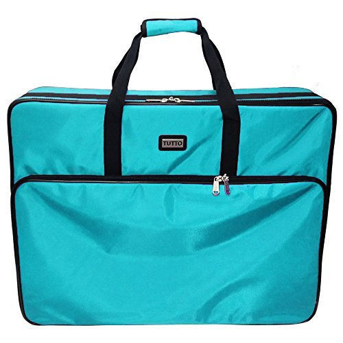 Tutto 28'' Embroidery Project Bag In Turquoise by Tutto
