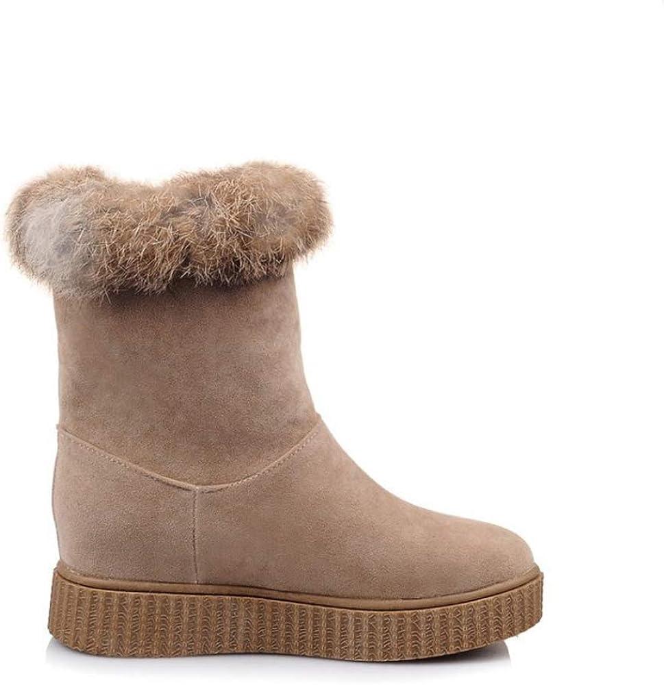 YMGW Damen Schneestiefel Wasserdicht Winterstiefel Warm gefütterte Schneestiefel Winterschuhe Winter Kurzschaft Stiefel Boots Schuhe Brown