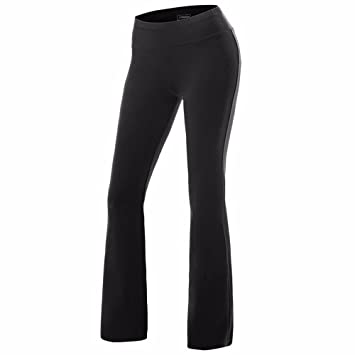 880e6271824fb FITTOO Women Casual Boot Cut Yoga Pants Ladies Stretch Softy Trousers  Pilates Workout Gym leggings,