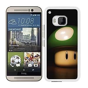 FUNDA CARCASA PARA HTC ONE M9 DISEÑO SETA SUPER MARIO REAL BORDE BLANCO