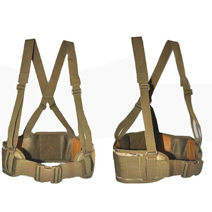 SEIGNEER Cinturón Táctico Heavy Duty ajustable seguridad ...